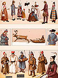 chromolithograph cultures costumes