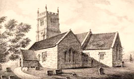 lithograph english churches