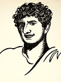 lithograph august caesar